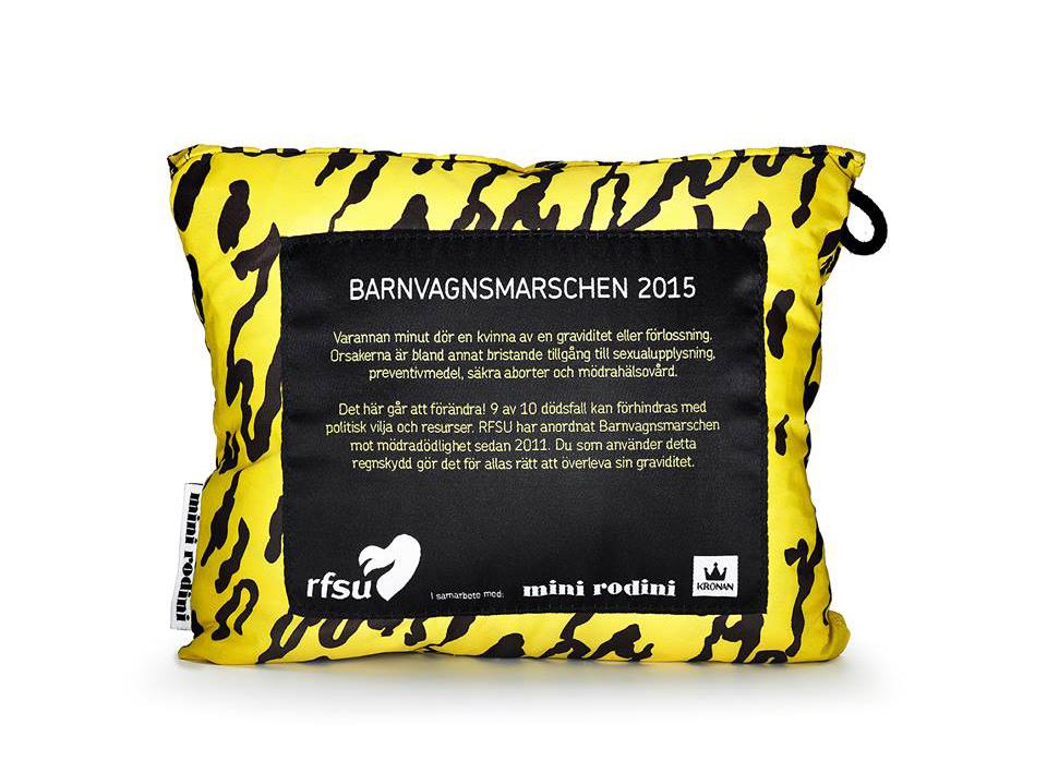 Mini Rodini designar regnskydd till årets Barnvagnsmarsch