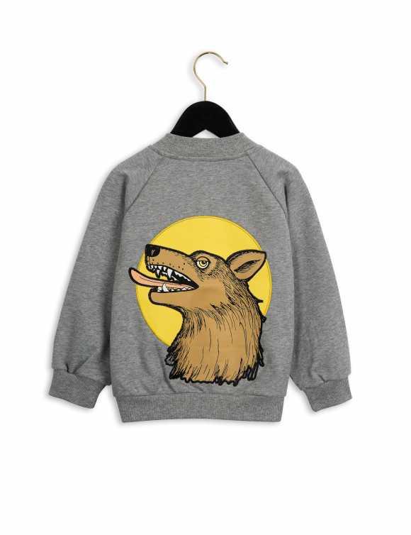 Wolf sweatshirt jacket