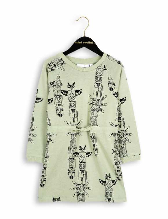 Totem long sleeve sweatdress