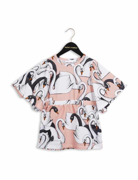 Swan kimono dress