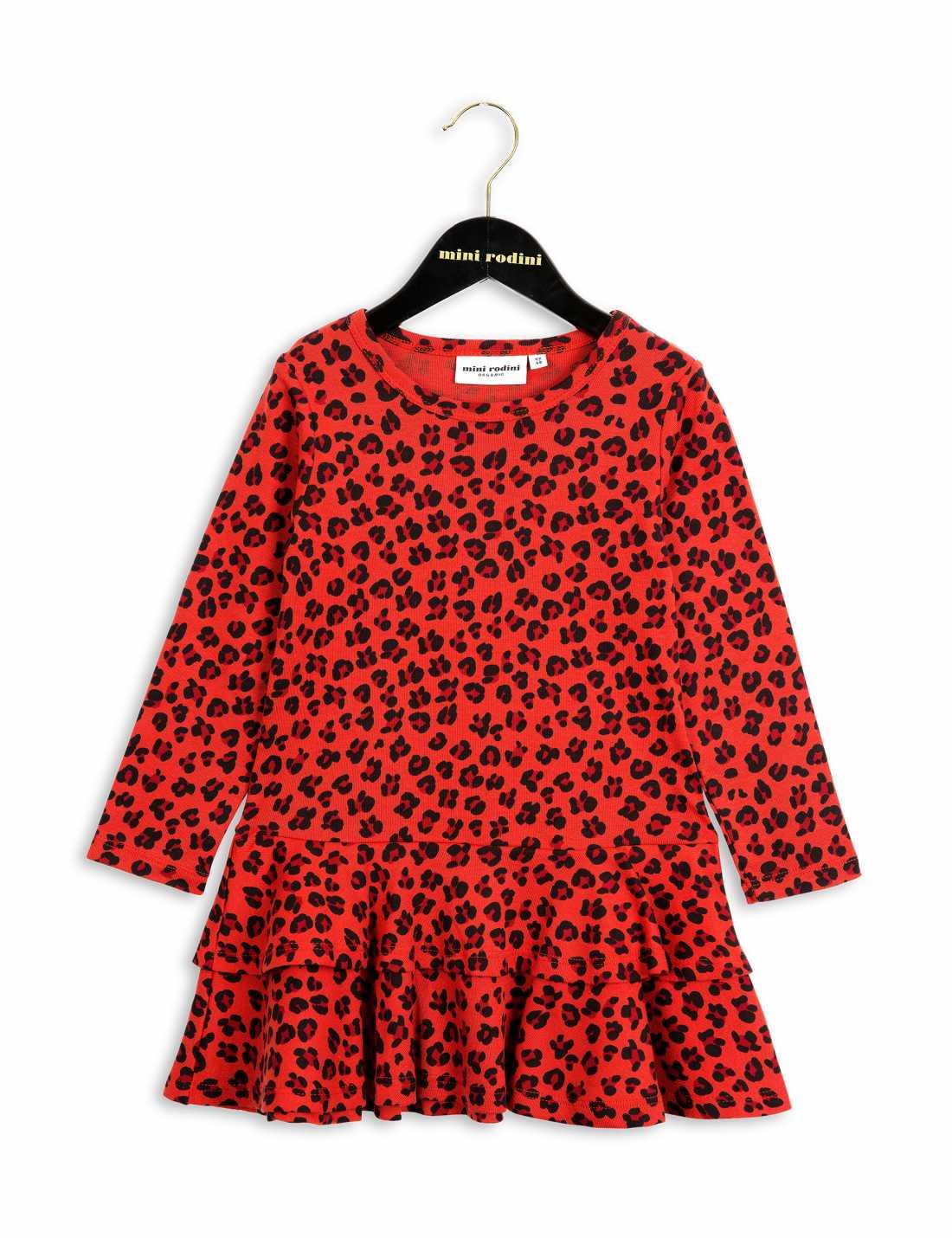 Product thumbnail of Leopard Långärmad Volangklänning