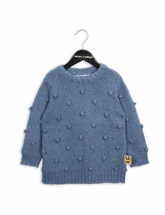 Denim knitted sweater
