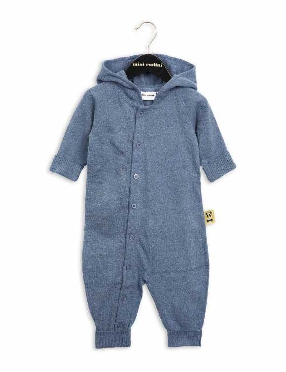 Denim knitted onesie