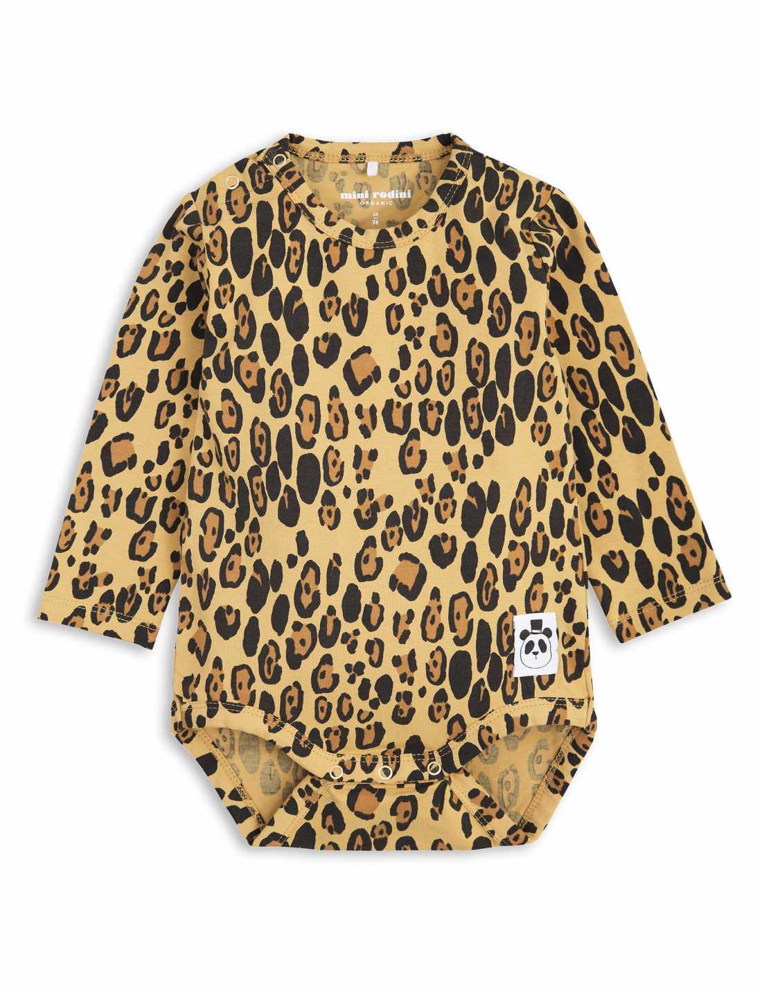 Basic Leopard Långärmad Body
