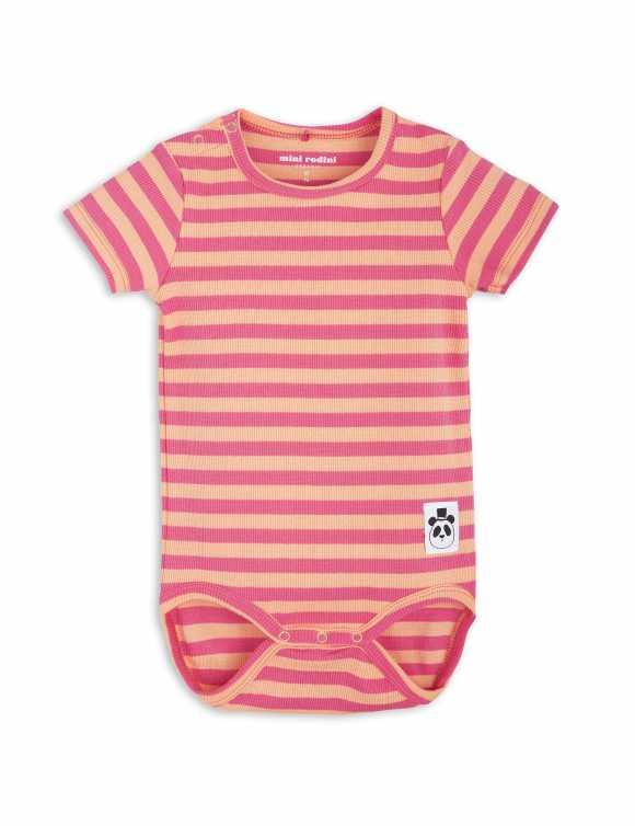 Stripe Rib Short Sleeve Body