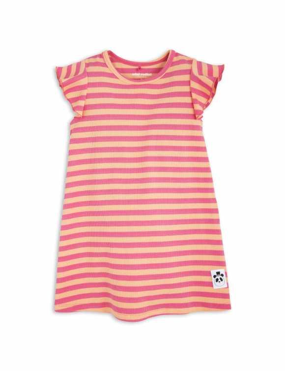 Stripe Rib Wing Dress