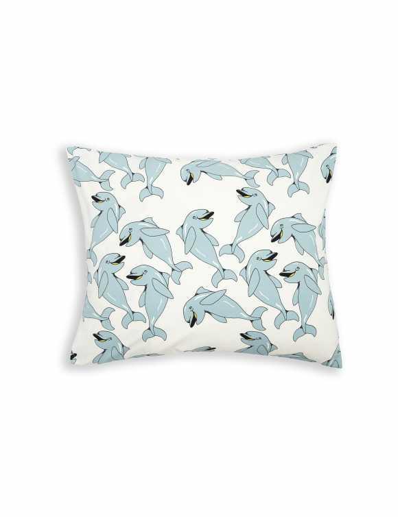 Dolphin Pillowcase Grey